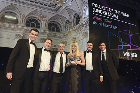 Success for Bolton Albert Halls at 2017 Construction News Awards