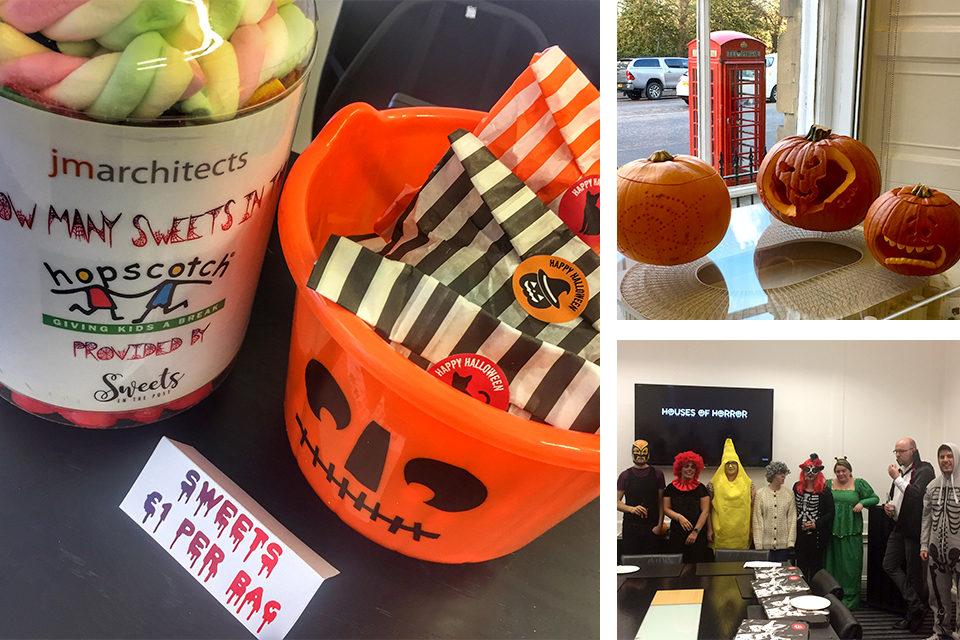 jmarchitects raise money for Hopscotch at Halloween!