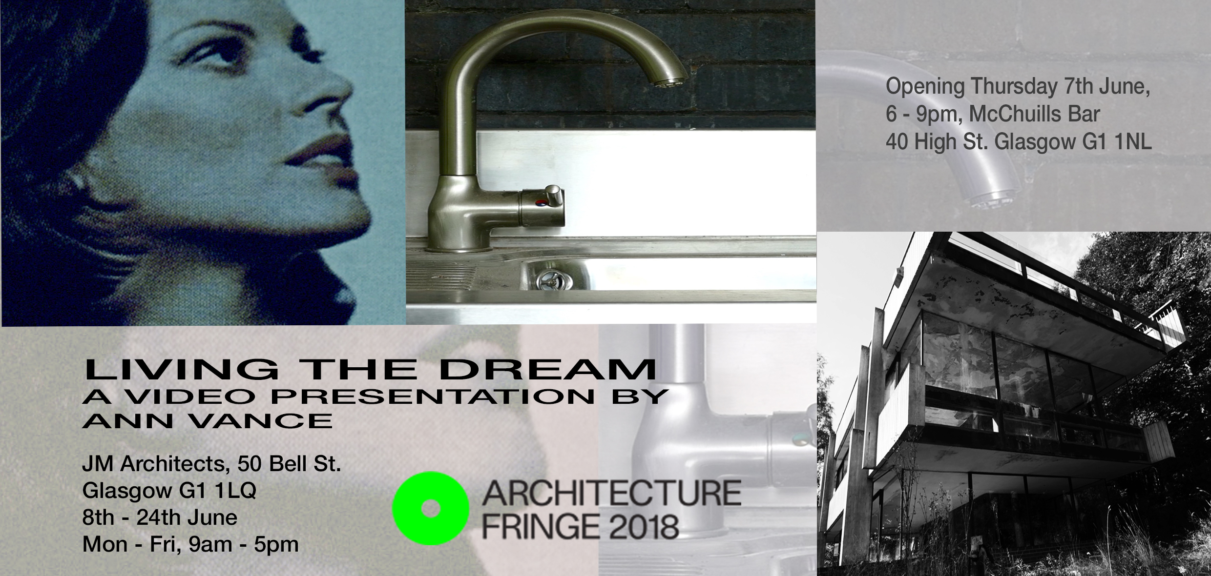 Living The Dream Exhibition by Ann Vance to show at jmarchitects Glasgow